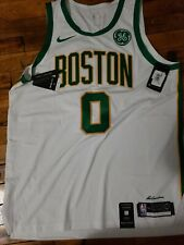 Jayson Tatum Authentic Boston Celtics City Edition White-Gold Jersey size 52