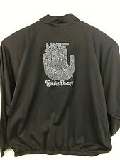 Maze Track Jacket Road Manager Frankie Beverly Embroidered  3XL XXXL Black