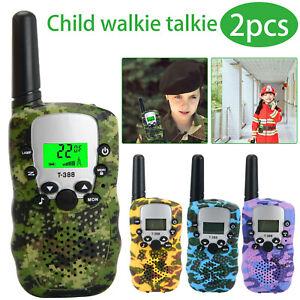 2Pcs Children Walkie Talkies Kids Long Range Walky Talky UHF 446MHz 8 Channel
