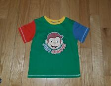 Boys CURIOUS GEORGE Big Face Just Curious T-Shirt Top Sz 5T Colorful