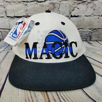 NEW - ORLANDO MAGIC - VINTAGE Snapback RETRO - Raised Letter CAP HAT  White Blue