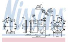 NISSENS Compresor aire acondicionado 89164