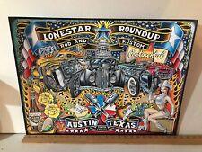 "2011 ANNUAL LONESTAR ROD 'N KUSTOM ROUND UP AUSTIN TX  POSTER  LARGE 18"" X 24"""
