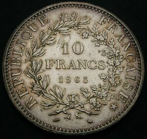 FRANCE 10 Francs 1965 - Silver - XF - 1494