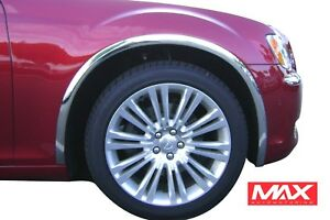 FTCR201 2005-2010 Chrysler 300/300C Dodge Charger Magnum POLISHED Fender Trim