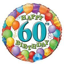 "60th BIRTHDAY 45cm (18"") FOIL BALLOON"