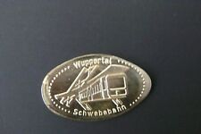 Elongated coin Wuppertaler Schwebebahn Wuppertal ferrocarril souvenir moneda medalla!!!