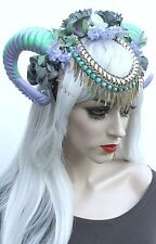 Feather Viking Warrior Strega RAM CORNO Dread Corona Boho Head Band Indie Gotico