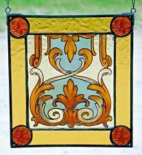 "Bleiverglasung Fensterbild  Glasmalerei ""viktorianisches Ornament"""