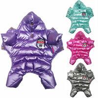 Dog Clothes Winter Waterproof Jumpsuit Warm Fleece Hoodie Puppy Cat Down Jacket