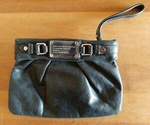 Marc Jacobs Black Leather Clutch Bag. Arm Strap. VGC.