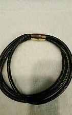 Endless bracelet by J LO 7.5' golden splash 3 strand leather charm. Retail 60$