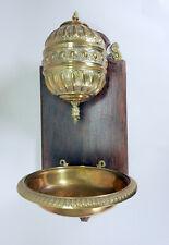 Lavabo Messing Holz Waschbecken Wasserbehältnis DE (Franken) ~1880  68x30x33 cm