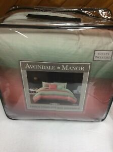 Avondale Manor Cypress 10-piece Bedding Set Twin Brand New