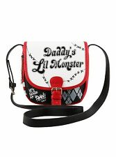 Harley Quinn Daddy's Lil Monster Purse, Cross Body Bag, Saddle, Suicide Squad