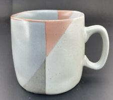 Hearth and Hand Stoneware Mug Pink/Gray Geometric
