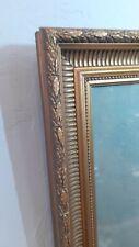 Paire de cadre rectangulaire en bois doré fin XIX ème style Louis XVI!!