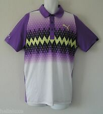 ~PRO TOUR EDITION~Puma Golf DUO SWING DS GRAPHIC Polo RICKIE FOWLER Shirt~Mens M