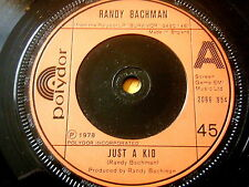 "RANDY BACHMAN - JUST A KID  7"" VINYL"
