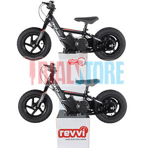 REVVI 2021 12 Inch Electric Balance Bike 24V Lithium Battery Powered Bike FreePP