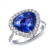 Natural Unheated Blue Sapphire 4.78 carats set in 18K White Gold Ring