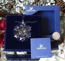 2004 Nib Swarovski Annual Little Christmas Ornament Star/Snowflake #663147