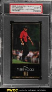 1998 Champions Of Golf Masters Collection Gold Foil Tiger Woods ROOKIE RC PSA 6