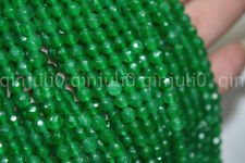 """New 6mm Natural Emerald Faceted Loose Beads Gemstone 15""""AAA"""