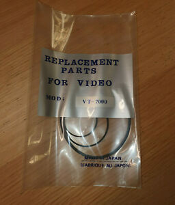VT-7000 VIDEO BELT KIT FOR HITATCHI (3BELTS KIT) ''UK COMPANY SINCE1983 NIKKO''