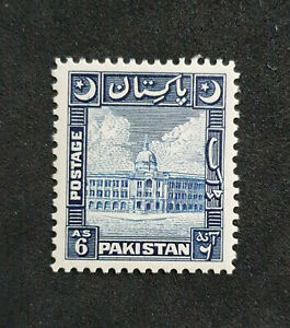 PAKISTAN-1949-53 6a Blue Sg 48 Very LightlyMOUNTED MINT  GR21