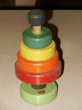 RARE Vintage HOLGATE TOYS Stackable Wooden Block Toy Tree