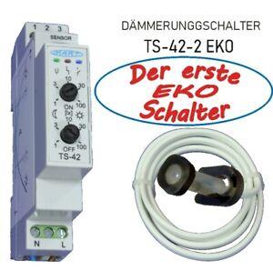 Dämmerungsschalter MART TS-42-2 - EKO Schalter - Morgen/Abend getrennt regelbar