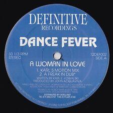 "DANCE FEVER A WOMAN IN LOVE ROBOTMAN DEFINITIVE +8 RARE ORIGINAL 12"" vinyl 1992"
