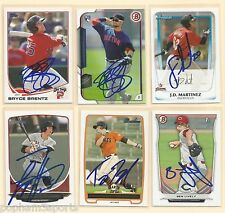 BRYCE BRENTZ Signed/Autographed 2015 BOWMAN CARD Boston Red Sox ROOKIE RC w/COA