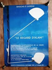 Original le regard d'alan Poster 1991 French moderniste design SERGE MOUILLE RARE
