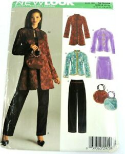 Simplicity 6519 New Look Sewing Pattern Size 10-22 Jacket Skirt Pants Bag Asian