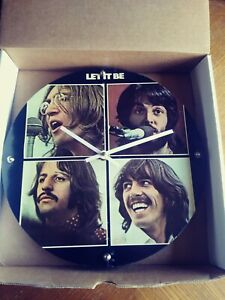 The Beatles Let It Be Album Cover Wall Clock  Unique Tunes Company 12 inches
