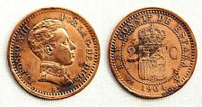 ESPAÑA-Alfonso XIII. 2 Centimos 1904*04 Variante 0 partido. MBC+/VF+-. Limpiada