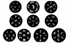 Set of 10 Plates Stamping for Nail Polish Konad Flowers Butterflies