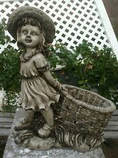 latex and fiberglass mold for plaster or concrete girl/basket planter