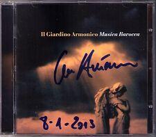 Giovanni ANTONINI Signed MUSICA BAROCCA CD Pachelbel Canon Il Giardino Armonico