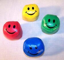 12 Vinyl Smiley Face Kick Balls fott sacks ball sports party favor supplies new
