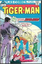 Tiger Man 1,2,3 HIGH GRADE FULL SET Atlas Seaboard 1975 Ditko, Colon, HYPO PANEL