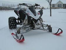 ATV Tires to Polaris Skis Conversion Kit for Kawasaki KFX700 KFX450R KFX400 KFX