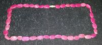 Pink ruby stone vintage Art Deco antique necklace