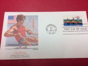 #1793 FDC 1979 Fleetwood 15c Olympic Crew Rowing