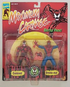 MAXIMUM CARNAGE BATTLE PACK CARNAGE VS SPIDER-MAN 2 PACK + BONUS COLLECTOR PIN