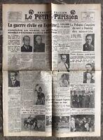 N40 La Une Du Journal Le Petit Parisien 20 Juillet 1936