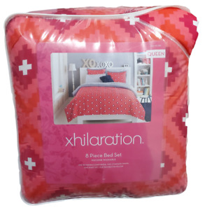 Xhilaration Diamond 8-Piece Queen Bedding Set - Pink including Sheets NEW