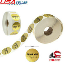 500pcs/roll Thank You For Your Purchase Stickers Round Gold Seal Labels US Stock